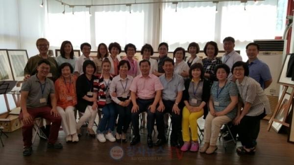 국제웰빙전문가협회 행복강사들의 워크숍(사진자료 김동호 사무총장)